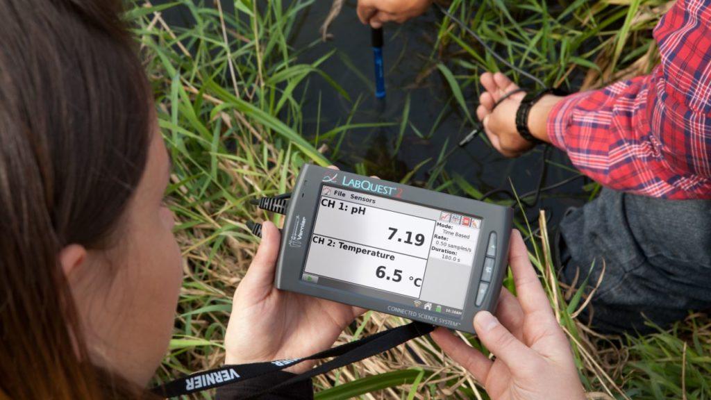 LabQuest2 з датчиком рН в дослідженні води