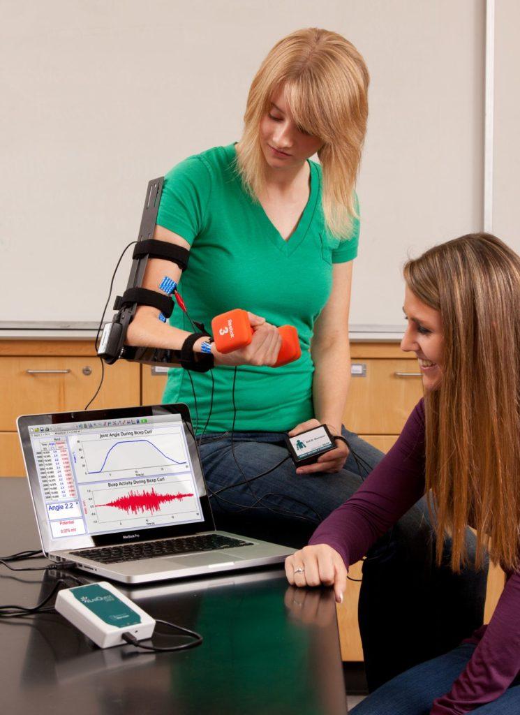 лабораторні роботи з біології в парах з датчиком ЕКГ